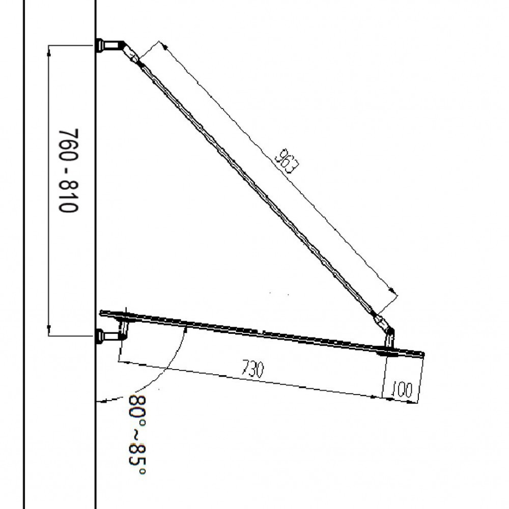 glasvordach 200x90cm v1. Black Bedroom Furniture Sets. Home Design Ideas