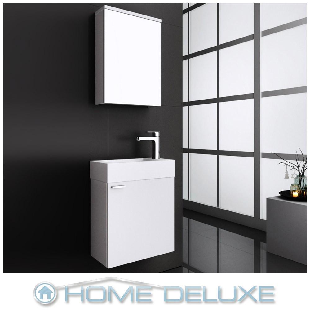 badm bel badezimmerm bel badezimmer waschtisch g ste wc bad g stebad schrank set ebay. Black Bedroom Furniture Sets. Home Design Ideas