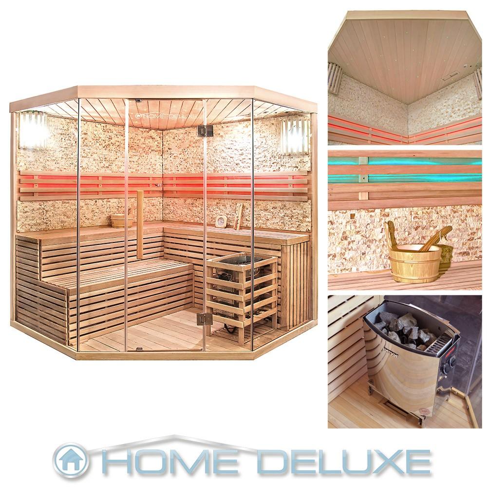 sauna saunakabine ecksauna massivholz traditionell harvia saunaofen zubeh r ebay. Black Bedroom Furniture Sets. Home Design Ideas