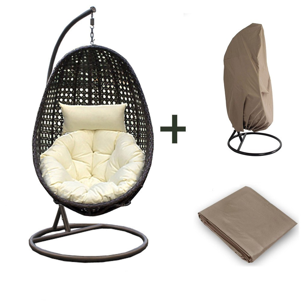 wicker hanging chair nido including rain cover. Black Bedroom Furniture Sets. Home Design Ideas