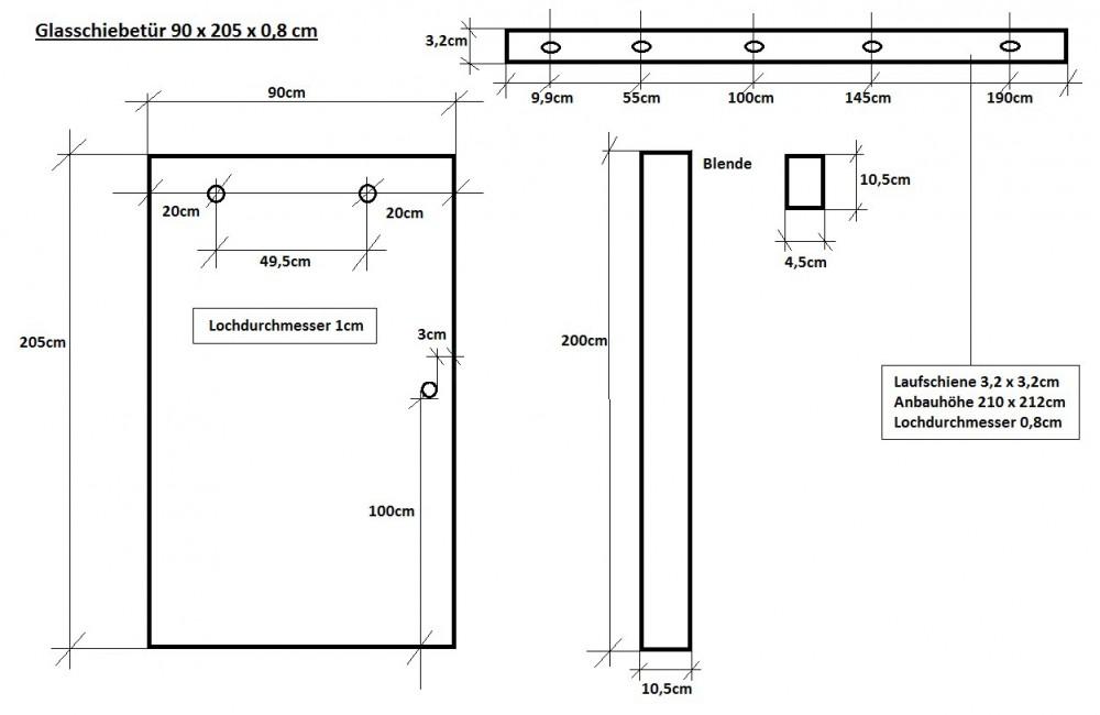 glasschiebet r 90 cm mit streifendesign und muschelgriff. Black Bedroom Furniture Sets. Home Design Ideas