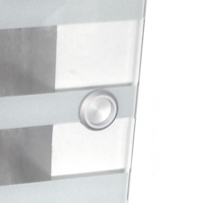 glasschiebet r 105 cm mit streifendesign und muschelgriff. Black Bedroom Furniture Sets. Home Design Ideas