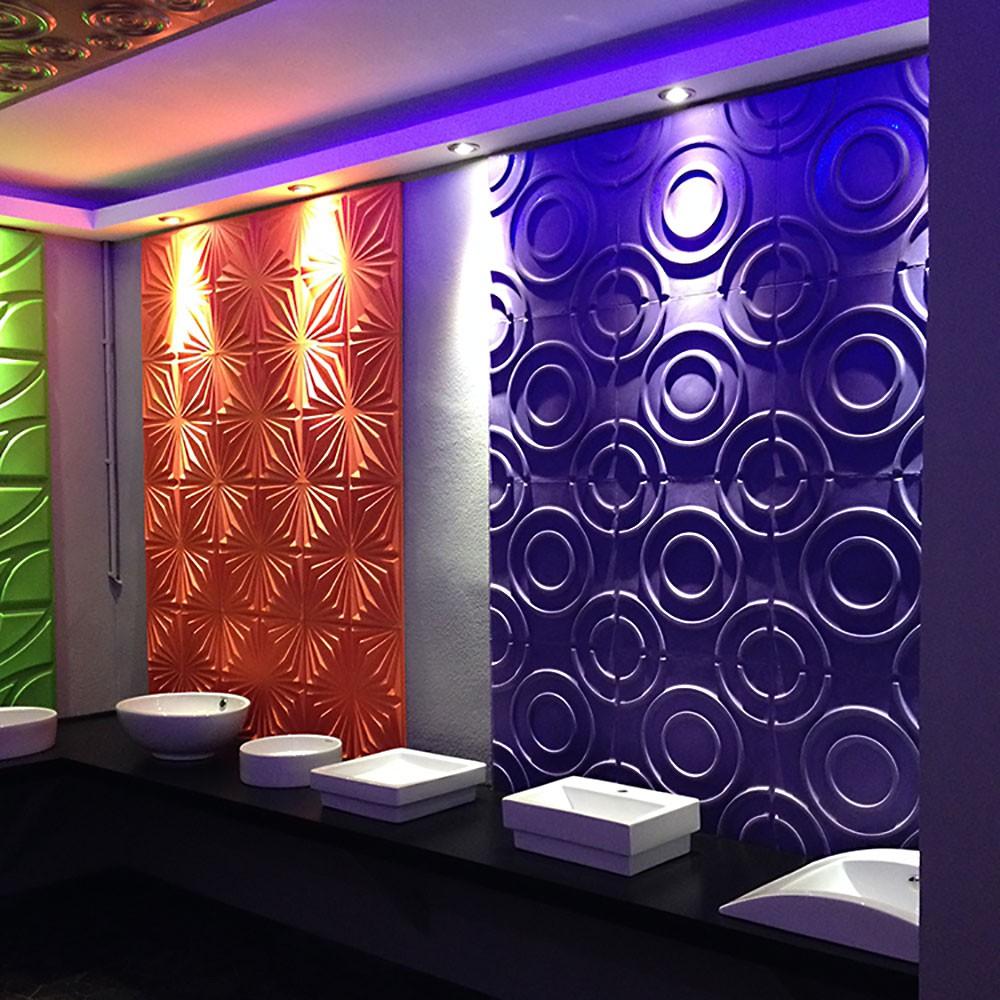 Moderne Abwaschbare Tapeten : 3D Wandpaneel Triton – V1