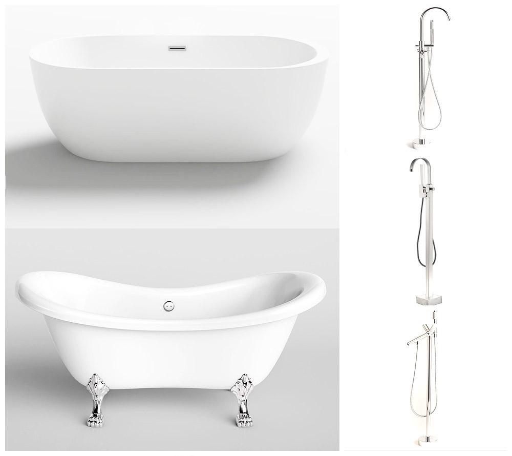 Home deluxe badewanne acrylwanne wannen duschen baden standarmatur ablaufset ebay - Standarmatur badewanne ...
