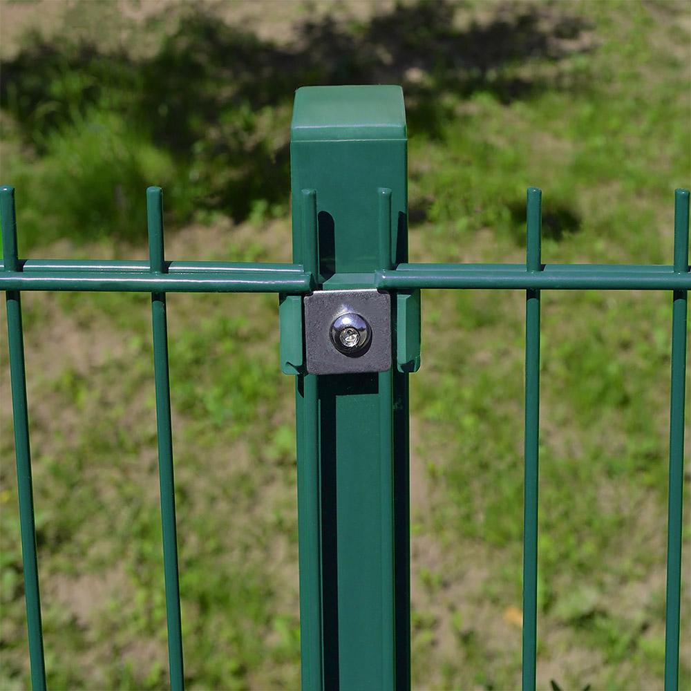 Berühmt Doppelstabmattenzaun - Pfosten grün 1500 mm QN02