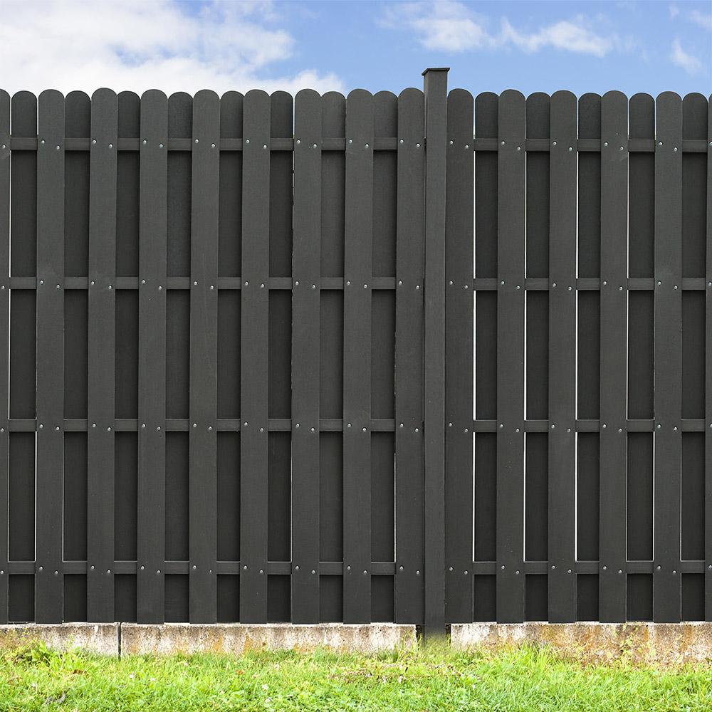 Wpc Sichtschutzzaun Sichtschutz 180 Cm V1 1x Element 2x Pfosten