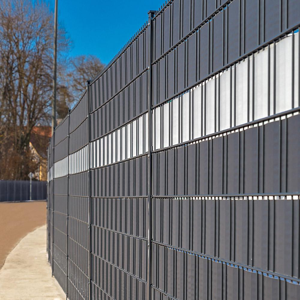 Gut gemocht PVC Sichtschutz Zaunfolie dunkelgrau JC85