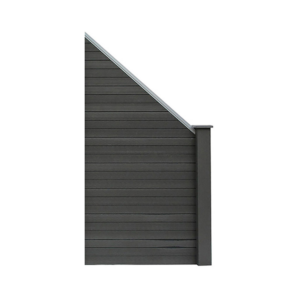 Wpc Sichtschutzzaun Sichtschutz Grau 1x Schragelement