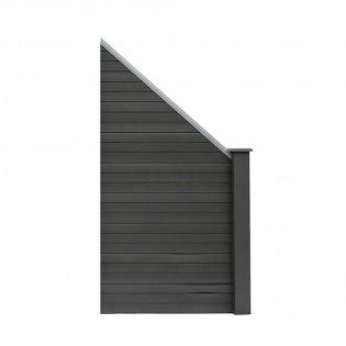 wpc sichtschutzzaun sichtschutz grau 1x schr gelement. Black Bedroom Furniture Sets. Home Design Ideas