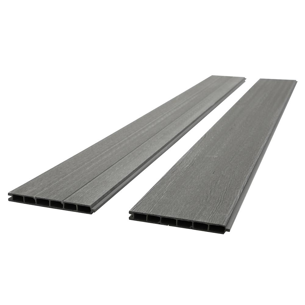 wpc sichtschutzzaun sichtschutz v2 grau - ersatzpaneel 200 cm