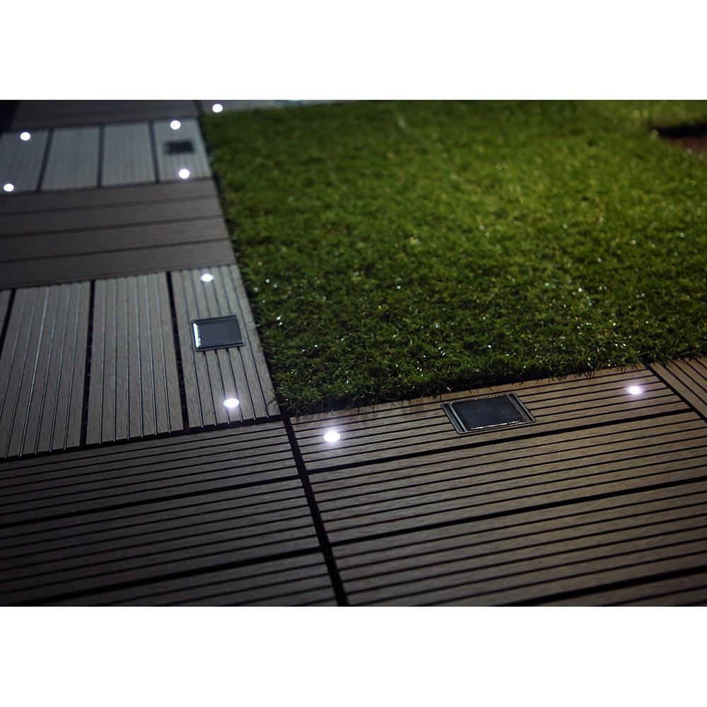 Fabulous WPC Holzfliesen Anthrazit mit LEDs - 16x Stück BB68