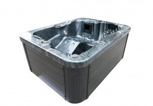 Outdoor Whirlpool Black Marble – Bild 3