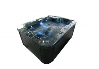 Outdoor Whirlpool Black Marble – Bild 5