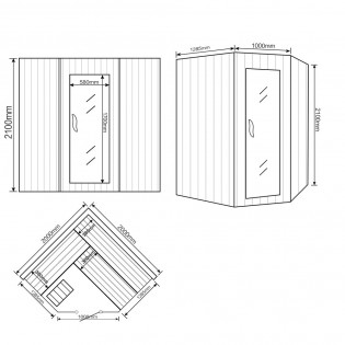 Traditionelle Sauna Relax XL BIG – Bild 10
