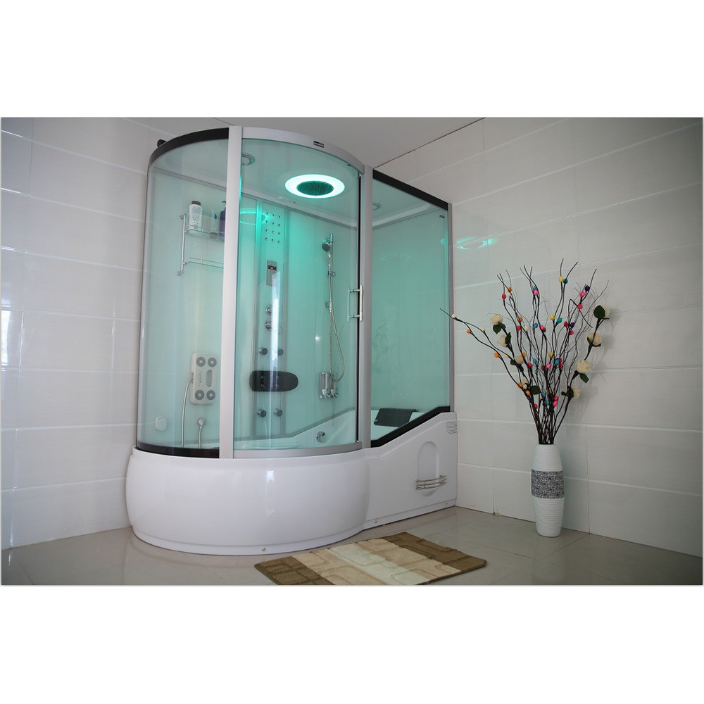 Shower cubicle ALLIN 2in1 BIG white (left)