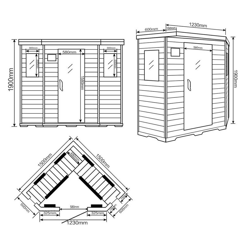 infrarotsauna redsun xxl. Black Bedroom Furniture Sets. Home Design Ideas