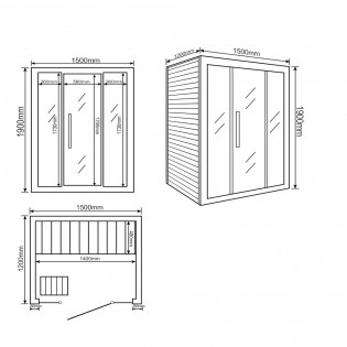 Traditionelle Sauna Skyline L – Bild 10