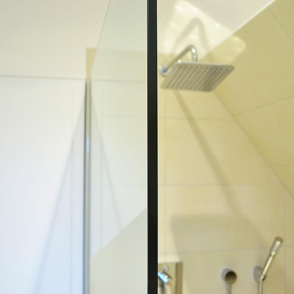 duschtrennwand navaa milchglasstreifen mit lotuseffekt 150 12. Black Bedroom Furniture Sets. Home Design Ideas