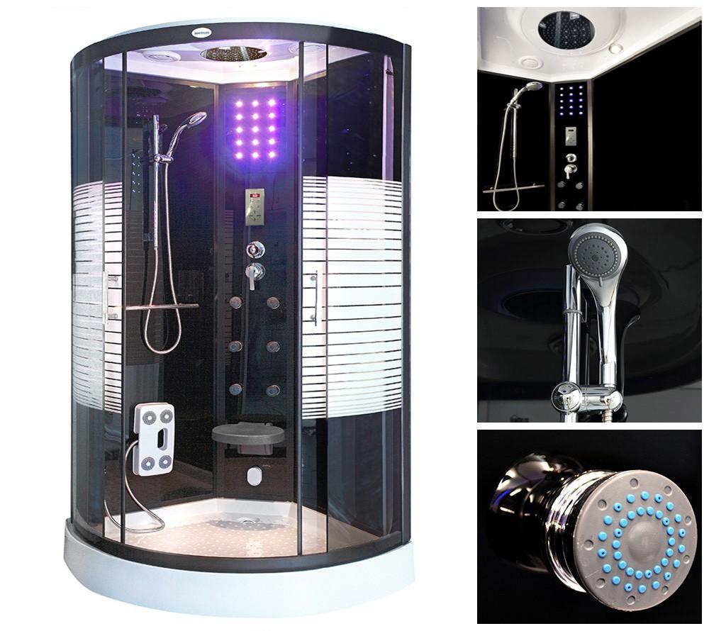 dampfdusche duschkabine dusche fertigdusche duschtempel dampfbad dampfsauna esg ebay. Black Bedroom Furniture Sets. Home Design Ideas