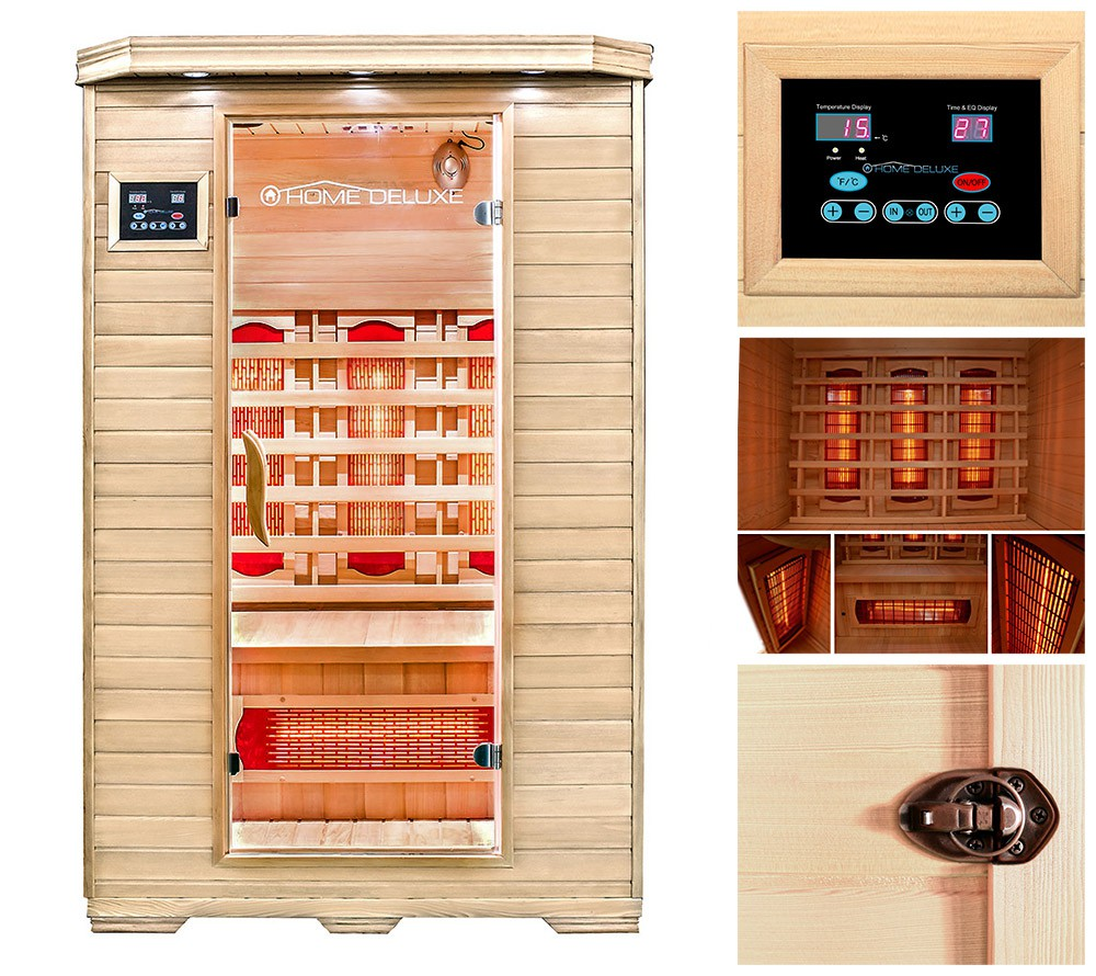 infrarotkabine w rmekabine infrarotsauna sauna vollspektrum infrarot massivholz ebay. Black Bedroom Furniture Sets. Home Design Ideas