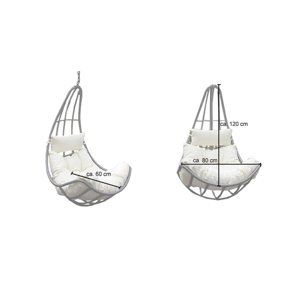 polyrattan h ngesessel cama nur korb. Black Bedroom Furniture Sets. Home Design Ideas
