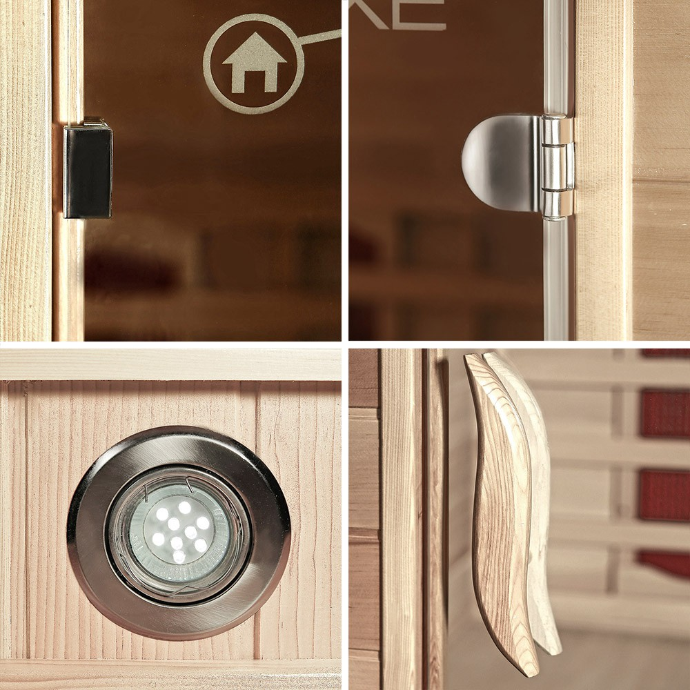infrarotsauna gobi l mit vollspektrumstrahler. Black Bedroom Furniture Sets. Home Design Ideas