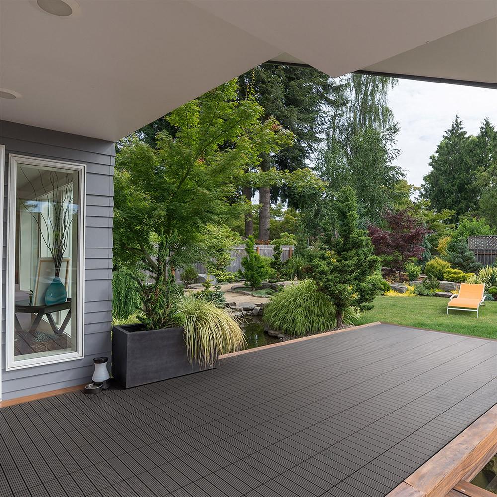 wpc holzfliesen dunkelbraun. Black Bedroom Furniture Sets. Home Design Ideas