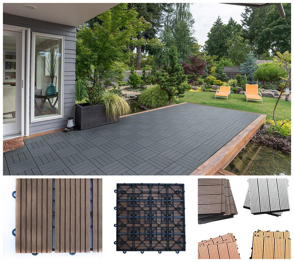 wpc fliese terrassenfliesen klickfliese terrasse holz. Black Bedroom Furniture Sets. Home Design Ideas