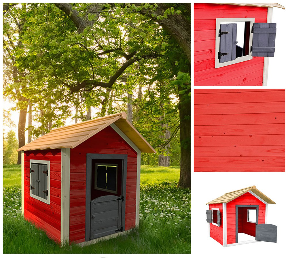 home deluxe spielhaus kinderspielhaus holzhaus gartenhaus. Black Bedroom Furniture Sets. Home Design Ideas