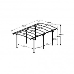 Design Carport FALO anthrazit – Bild 10